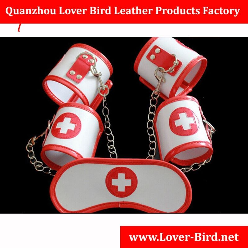 Factroy Sex Toys Leather Nurse Goggles Nurse Red Suit Free Shipping Sex Toy Hand Cuffs For Women Adult Sex Toys