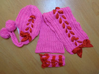 100%Acrylic knitted sets gifts