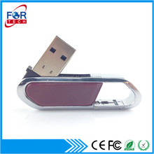Factory Price Leather Skin 16GB USB Flash Drive Printing Logo