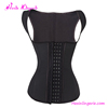 Black Latex Waist Trainer Vest fitness corset With 4 Row Hooks