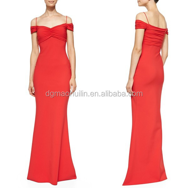 fashion design red mermaid dress Vestidos de Fiesta