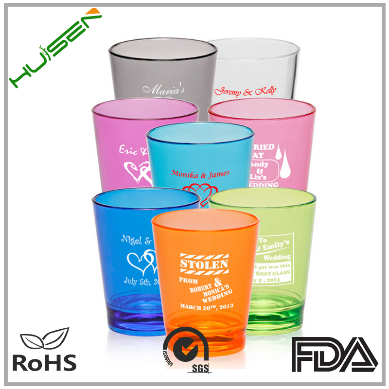Accpet Customized Color Glass Cup With Custom Logo