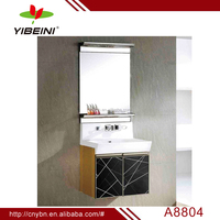 yibeini bathroom cabinet with mirror ceramic basin _lacquer material vanity