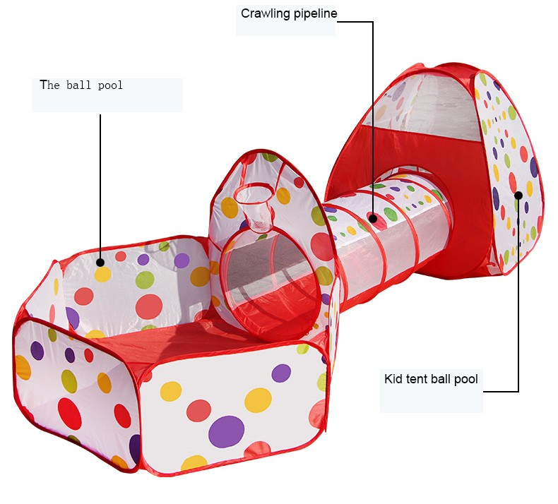Promotional Tent Play Tunnel and Hut Easy Fold Ocean Ball Pool Cubby-Tube-Teepee OEM Tent Korea (Tent baby playpen)