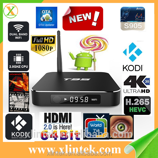2016 High Quality Android Lollipop TV Box HD Sex Porn Video TV Box T95 Android TV Box Turkish Channels Google
