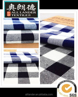 Classic British blue and black woven cotton fabric factory direct sale
