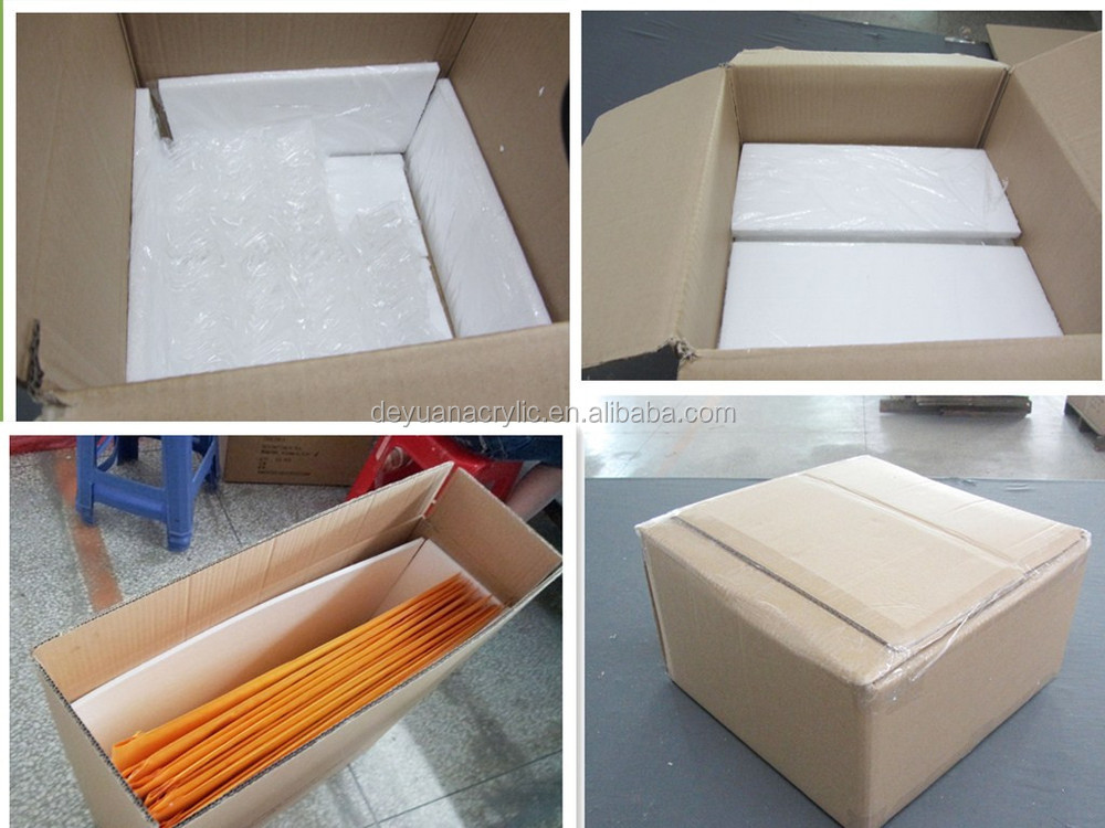 Customized wholesale acrylic makeup box with brush holders