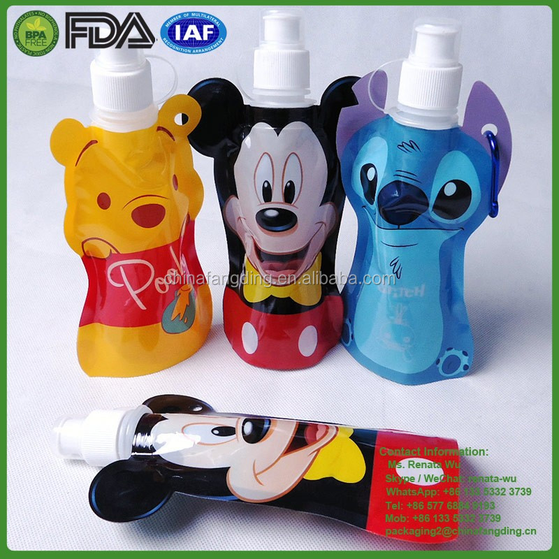 small volume cartoon characters kids sport drink water bottle