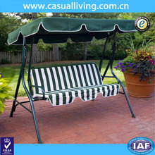 Promotional garden wooden 2 seater swing with canopy hammock chair