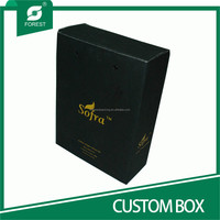 BLACK VARNISHED CARDBOARD CUSTOM BOX FOR PACKING OLIVE OIL