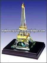 French Effiel Tower Crystal Building Model Crystal Souvenirs Crystal Gifts With Base