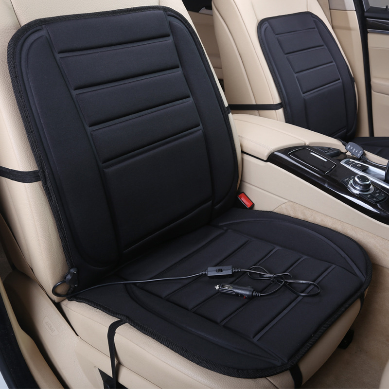Cigarette Lighter Plug 12v 45w Heated Seat Cushion Cover Adult Car With Lumbar Support
