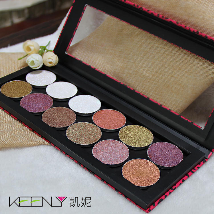 New arrival private label cosmetics your own brand highlighter makeup eye shadow eyeshadow palette wholesale