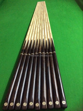 real ebony wood handmade snooker cues