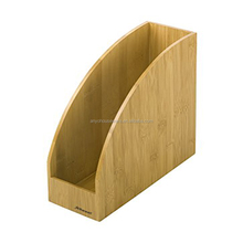 AY-o0012 Wholesales Bamboo Desktop office Document Letter File Holder Desk Organizer