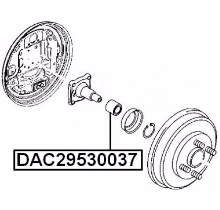 Suspension Rear Wheel Bearing 29X53X37 Oem 1085565 For Mazda Verisa Dc5 2004-
