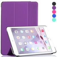 Most Popular Items Ultra Slim Light Weight Smart Cover Tri-fold Protective PU Leather Case For iPad