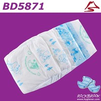 High Quality Free Samples Disposable Non Woven Baby Diaper Manufacturer with BD5871 from China