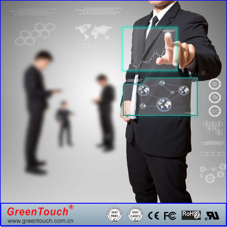 "2Easy Install Transparent 17"" Interactive touch foil,touch film for window glass shop"