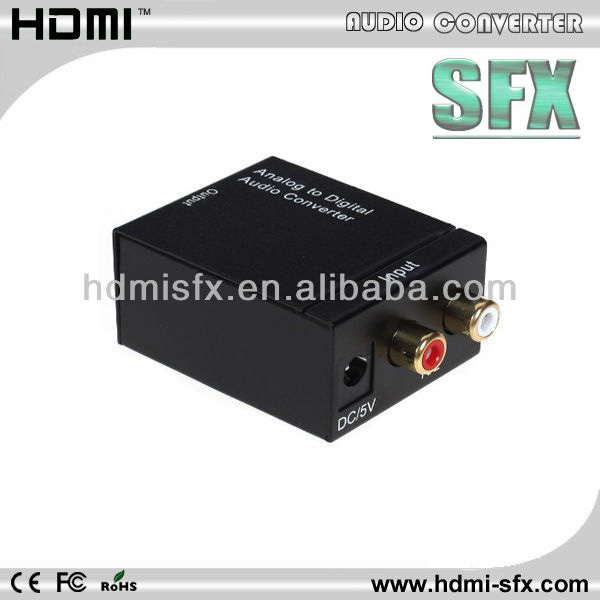 hdmi to 5.1 analog converter support 3.5mm audio and RCA audio input