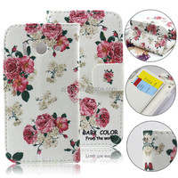 Fashion Printed Stand Wallet Leather Flip Cover for Huawei Y300 U8833 Wholesale