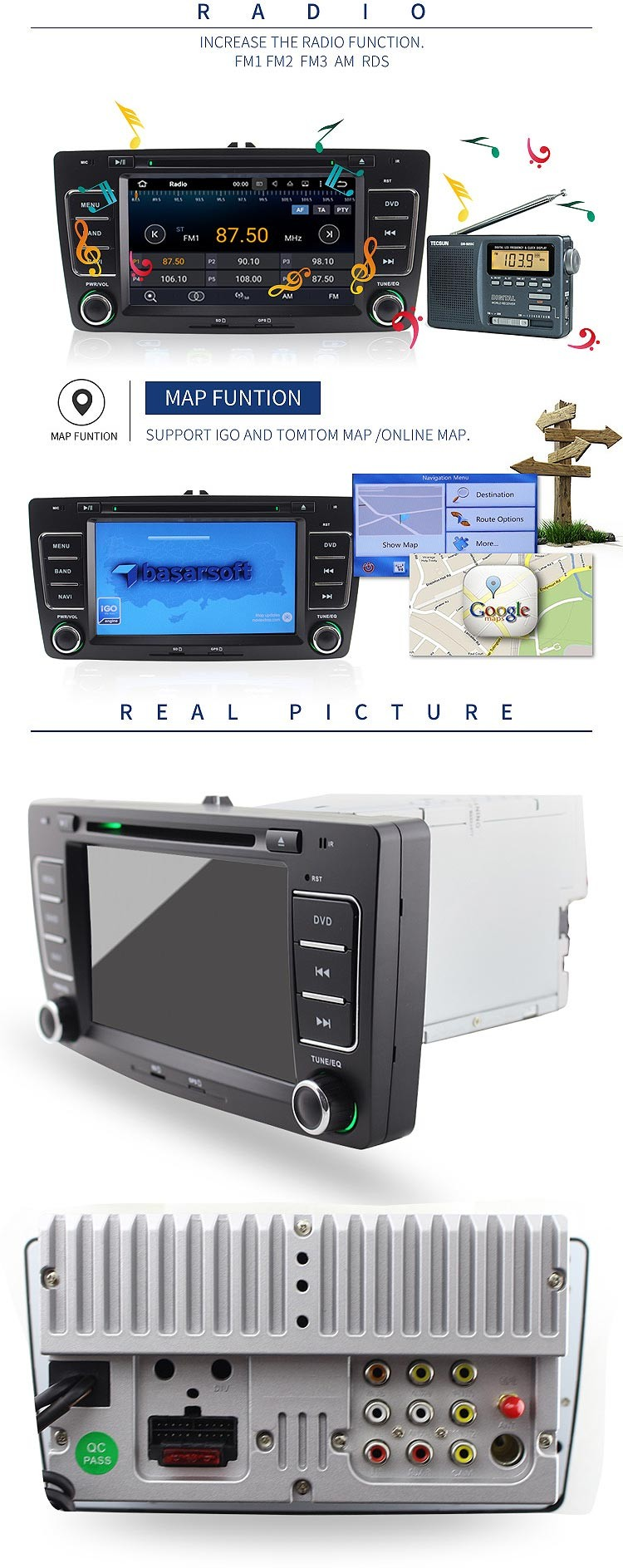 pure android car dvd for skoda octavia car radio gps navigation dvd player