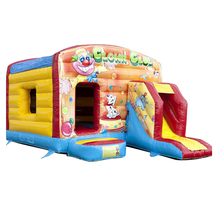 Hot sale bubble guppies commercial inflatable bouncer combo for promotion