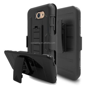 Hybrid Belt Clip Holder Phone Cover Case For Samsung Galaxy J3 Emerge / J3 2017 / J3 Prime