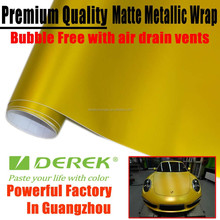 High Quality Matte Pearl Vinyl For Car Wrapping Gold Car Body Sticker 1.52*30m