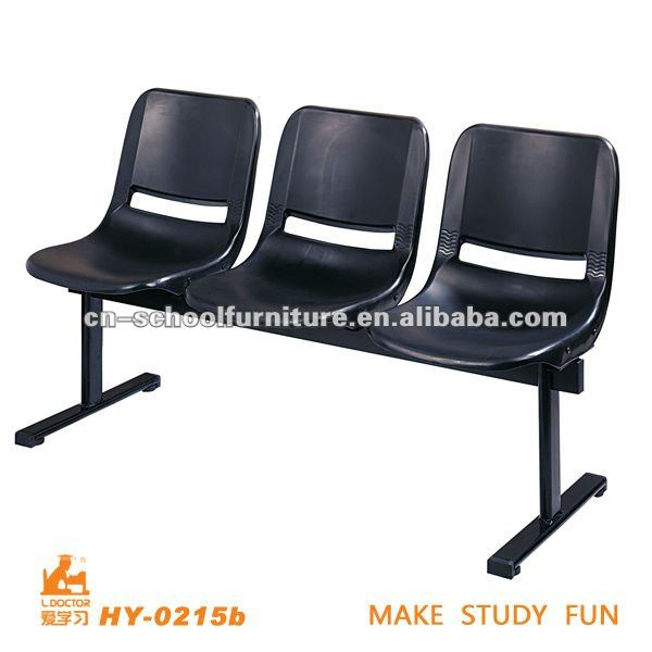 Plastic 3-seater waiting chair