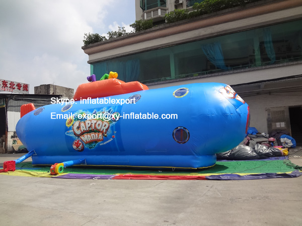 inflatable submarine bouncer castle games children toy submarine