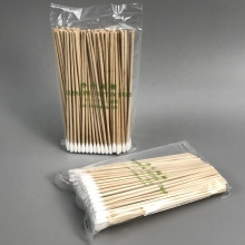 Huby CA-006 Replacement 6inch Single End Disposable Industrial Cleaning Wooden Handle Cotton Swabs