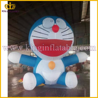 Guangzhou Factory LED lighting Cheap Inflatable Doraemon Cartoon, Giant Inflatable Robot Cat