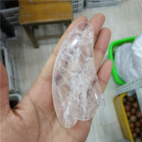 Cheap Natural Clear Quartz Crystal Gua Sha Massager Tools Wholesale