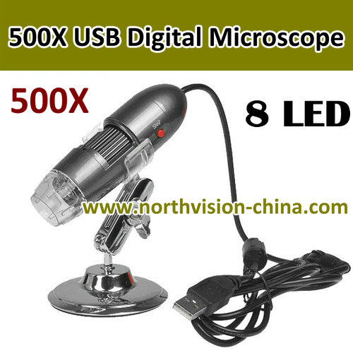 500X usb digital microscope with snap shot software and hardware