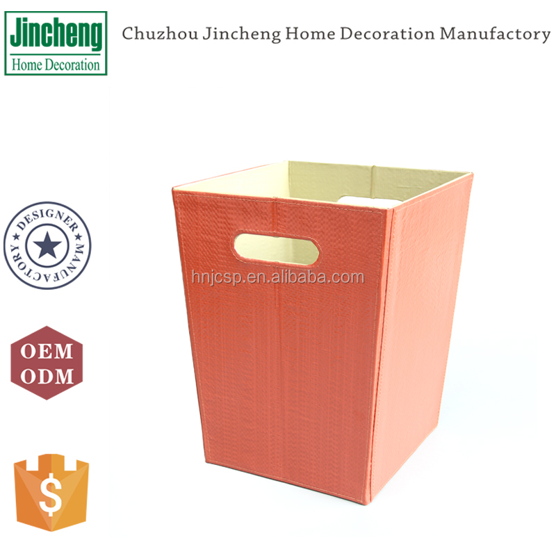 Many colors woven PP outdoor garbage trash bin