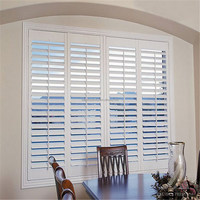 Plantation shutters with white wood slats from china