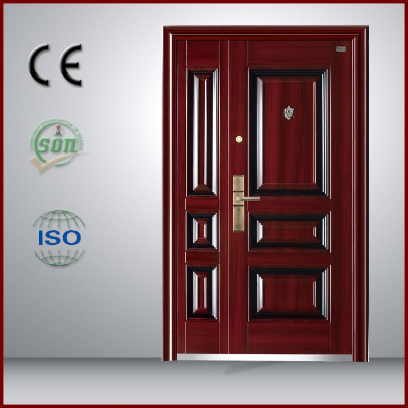 Yongkang Manufacturer Honeycomb Paper Core Safety Anti Pry Security Steel Doors