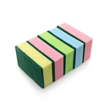 Colorful cleaning sponge sponge scourer with Abrasive Scouring Pad