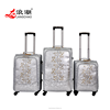 Hot Selling PU Colourful Trolley Luggage With Retractable Wheels travel women luggage