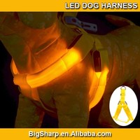 100pcs Wholesale Pet Dog LED Harness Training Safety Light Glowing Harness for Dog LED dog 3 Sizes 8 Colors DH2502