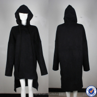 custom mens coat manufacturers black long suede coats fashion mens hooded suede coat
