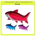 inflatable foil shark character balloon