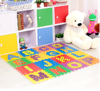 Meitoku newest high-tech 3D kids study alphabet educational eva foam mats