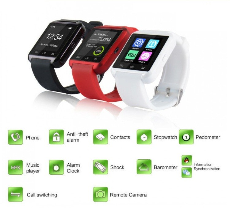 The Most Popular Wholesale Digital BT CE Rohs Smart Watch U8