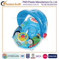 Baby Inflatable Float Car With Sunshade wheel For Swimming Pool
