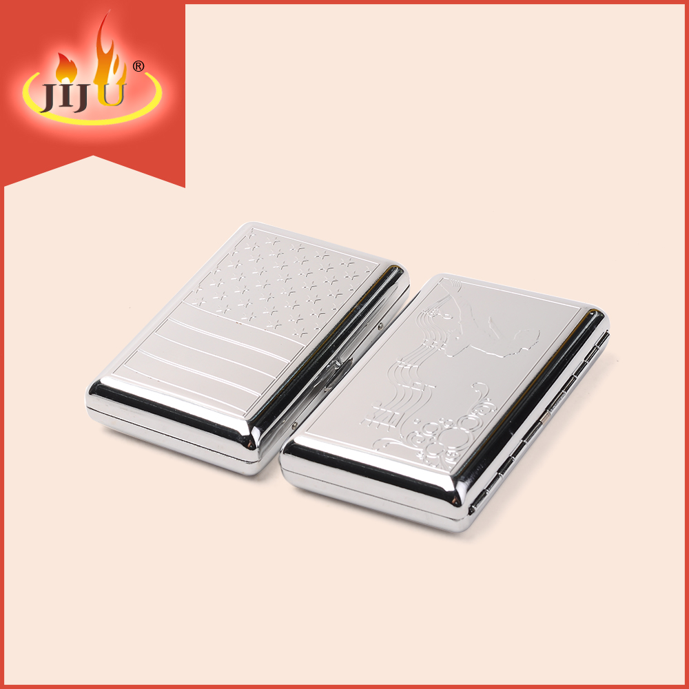 JL-007N Yiwu Jiju Cigarette Box Template, Cigarette Case with Built-in Lighter, Electronic Cigarette Case