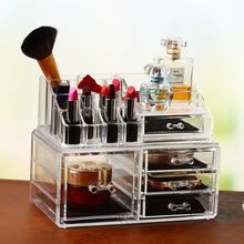Wholesale OEM,ODM acrylic makeup cosmetic organizer with drawers