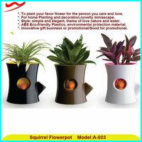 Latest new idea squirrel flower pots indian wedding decoration pots