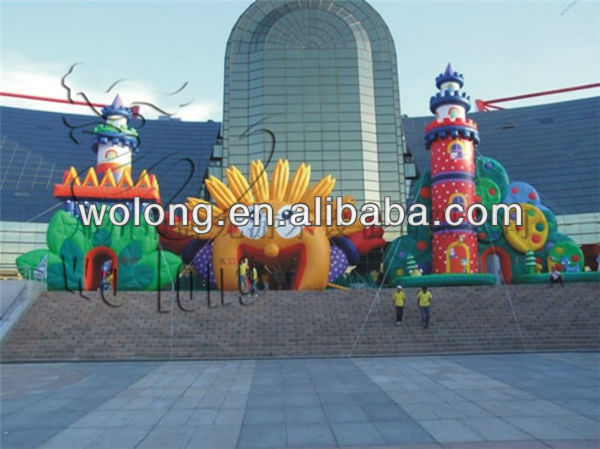 PVC inflatable bouncer, inflatable castle for party